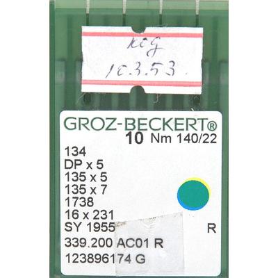 Иглы пром. маш. Groz-Beckert 134/DP5 №140 (уп. 10 шт.) в интернет-магазине Швейпрофи.рф