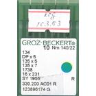 Иглы пром. маш. Groz-Beckert 134/DP5 №140 (уп. 10 шт.)