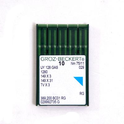 Иглы пром. маш. Groz-Beckert UY 128 GAS № 75 (уп. 10 шт.) 781672 в интернет-магазине Швейпрофи.рф
