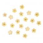 Декор AS12-02 Цветочки для скрапбукинга 10 мм (уп 20 шт)  желтый 7723899