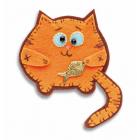 Набор для изготовления брошки из фетра ПБР-1005 «Кот» (Перловка) 7*9 см