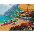 Алмазная мозаика Подсолнух GF2934 «Кафе на побережье» 40*50 см на подрамнике