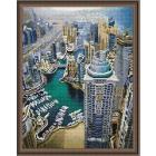 Алмазная мозаика Подсолнух LAG2915 «Вид на город» 40*50 см на подрамнике круглые стразы