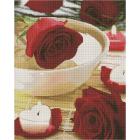 Алмазная мозаика Подсолнух UA117 «Свечи и розы» 40*50 см на подрамнике