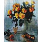Алмазная мозаика Подсолнух UA135 «Букет желтых роз» 40*50 см на подрамнике