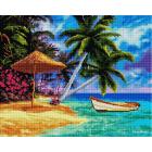 Алмазная мозаика Подсолнух UA162 «Лодка на тропическом острове» 40*50 см на подрамнике
