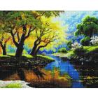 Алмазная мозаика Подсолнух UA210 «Солнечные лучи в ветвях» 40*50 см на подрамнике