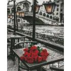 Алмазная мозаика Подсолнух EF353 «Розы под дождем» 30*40 см на подрамнике