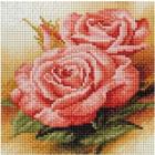 Алмазная мозаика Подсолнух UC105 «Чайные розы» 20*20 см на подрамнике