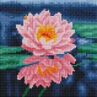 Алмазная мозаика Подсолнух UC195 «Розовый лотос» 20*20 см на подрамнике