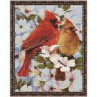 Алмазная мозаика Подсолнух VA311 «Птички весной» 40*50 см на подрамнике круглые стразы