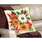 Набор для вышивания в ковровой технике, подушка BZ0405 «Цветы» 45*45