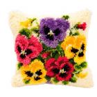 Набор для вышивания в ковровой технике, подушка BZ0433 «Крокусы» 45*45