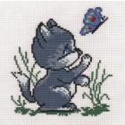 Набор для вышивания Panna Д-0002 «Котик» 10,5*12,5 см
