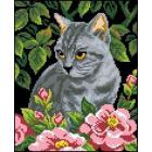 Рисунок на канве Гелиос Д-010 «Серьезный котик» 23*27 см