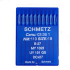 Иглы пром. маш. Schmets DC*27/B-27 №110 для оверлоков (уп. 10 шт.)