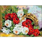 Рисунок на канве Гелиос Ц-058 «Розы» 34*57 см