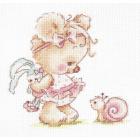 Набор для вышивания Чудесная Игла №17-16 «Я с тобой дружусь!» 13*13 см
