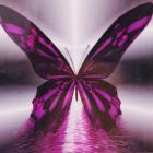 Алмазная мозаика DIY (с рамкой) LM-K20130 «Фиолетовая бабочка» 20*20 см