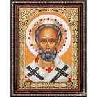 Алмазная мозаика АЖ-1839 «Икона Николая Чудотворца» 30*40 см