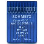 Иглы пром. маш. Schmets DC*27/B-27 №120 для оверлоков (уп. 10 шт.)