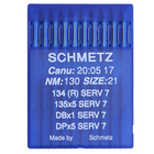 Иглы пром. маш. Schmets DP*5 (134) №130 универсальные и д/трикотажа (уп. 10 шт.)
