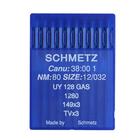 Иглы пром. маш. Schmets UY 128 GAS №80 для плоскошов. маш. (уп. 10 шт.)
