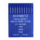 Иглы пром. маш. Schmets UY 128 GAS №90 для плоскошов. маш. (уп. 10 шт.)
