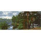 Набор для вышивания HP №653 «Лесное озеро» 16*32 см