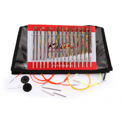 Набор съемных спиц Knit Pro 20613 «Deluxe Set  Simfonie» дерево 8 видов в интернет-магазине Швейпрофи.рф