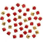 Стразы пришивн. «Астра»  6 мм в цапах/золото 4AR169/176 хруст. (уп 40 шт) 7727642 11 красный