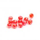 Бусины пластм.  6 мм  перламутр (уп. 10 г) 04 красный