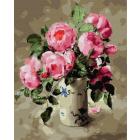 Картина по номерам Molly KH0638  «Розовый букет» 40*50 см