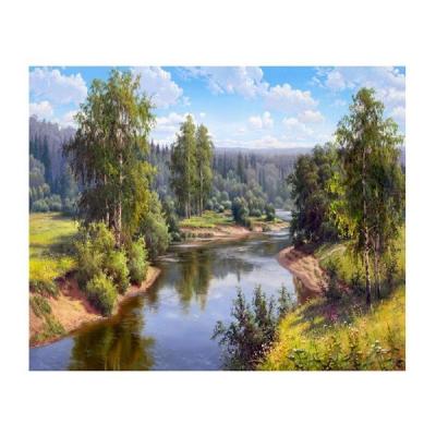 Картина по номерам Molly KH0646  «Прищепа. Проточная река» 40*50 см в интернет-магазине Швейпрофи.рф