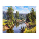 Картина по номерам Molly KH0646  «Прищепа. Проточная река» 40*50 см
