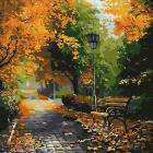 Картина по номерам Molly KH0694  «В осеннем парке» 30*30 см