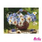 Картина по номерам Molly KH0772 «Корзина полевых цветов» 15*20 см