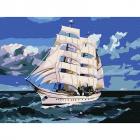 Картина по номерам Molly KH0793 «Корабль в море» 15*20 см