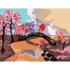 Картина по номерам Molly KH0926 «Японский пейзаж» 15*20 см