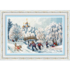 Набор для вышивания Золотое руно ЧМ-071 «Рождественские каникулы» 27.5*41.8 см