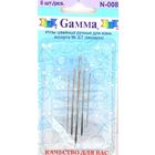 Иглы ручные Гамма N-008 для кожи №3/7 (уп. 5 шт. в блист.)