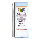 Иглы ручные Гамма N-271 для переплетн. работ 5 (уп. 25 шт.)