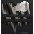 Иглы ручные РТО 50000 для шитья с нитковдевателем (наб. 25 шт.)