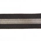 Тесьма 20 мм репсовая лампасная  №1 чёрный/серебро  уп.10 м