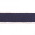 Тесьма 20 мм репсовая лампасная  №6 синий/серебро  уп.10 м