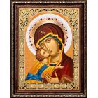 Алмазная мозаика АЖ-1844 «Икона Владимирская Богородица» 30*40 см