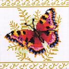 Алмазная мозаика D 2004 «Бабочка на папоротнике»