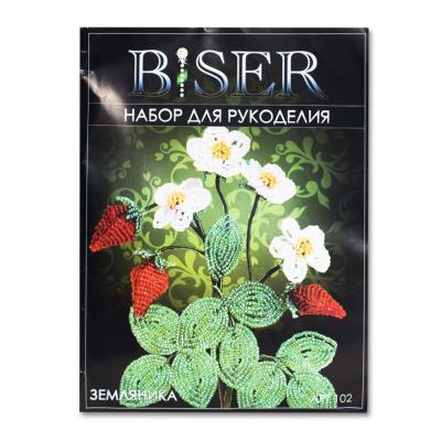 Набор для бисероплетения BISER 102 «Земляника» 10*10 см в интернет-магазине Швейпрофи.рф