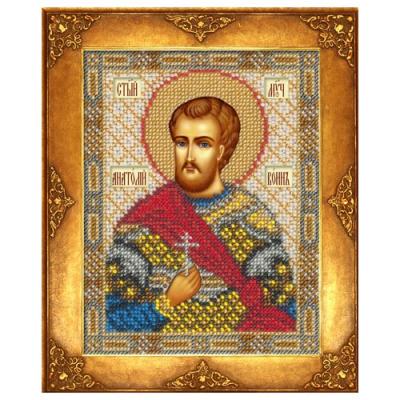 Набор для вышивания бисером ЗВ И-012 «Св. Анатолий» 9,5*12,5 см в интернет-магазине Швейпрофи.рф