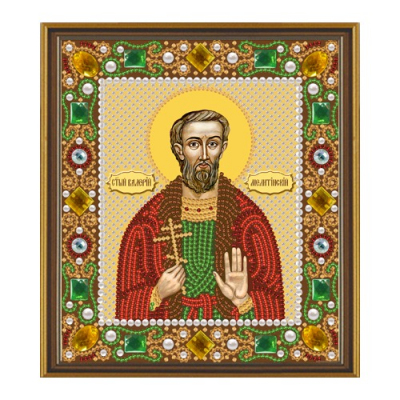 Набор для вышивания бисером ЗВ И-015 «Св. Валерий» 9,5*12,5 см в интернет-магазине Швейпрофи.рф
